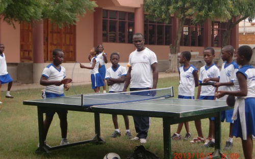 Pupils in the sports ground